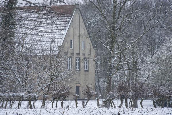 Rheine - Ostflügel Kloster/Schloss Bentlage im Winter.