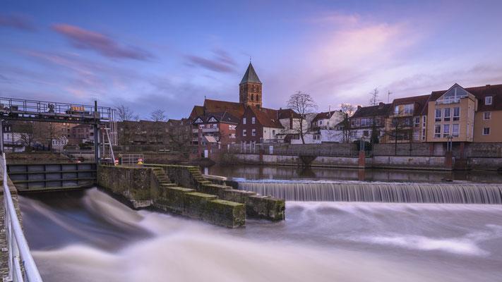 Rheine Emswehr und Stadtkirche St. Dionys