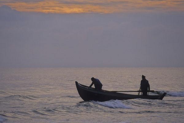 Ausfahrt der Fischer/Baabe