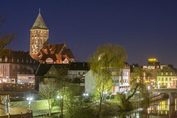 Rheine - Blick auf die Altstadt, Januar 2015.