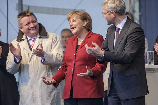 Hermann Gröhe, Bundeskanzlerin Angela Merkel, Norbert Röttgen.