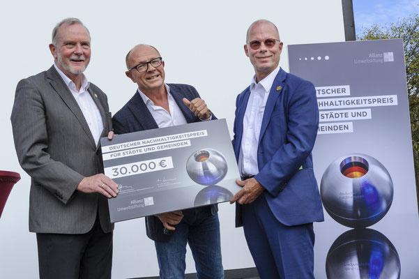 Deutscher Nachhaltigkeitspreis für die Klimakommune Saerbeck, Preisübergabe.
