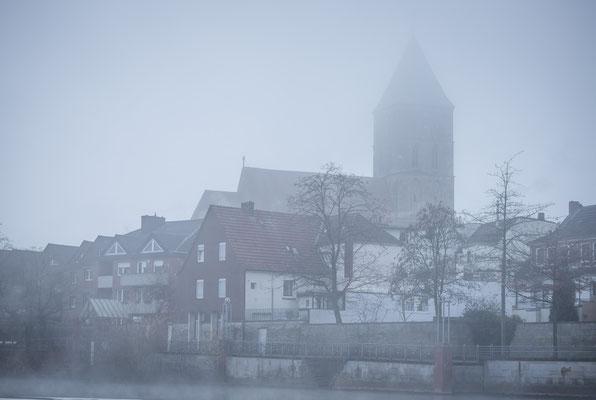 Rheine Altstadt Im Nebel
