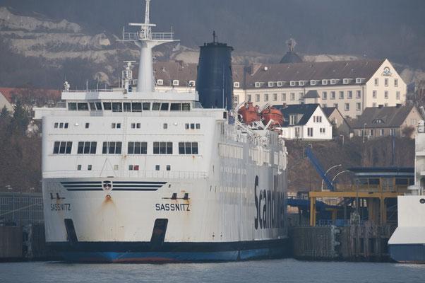 Fähre im Stadthafen Sassnitz