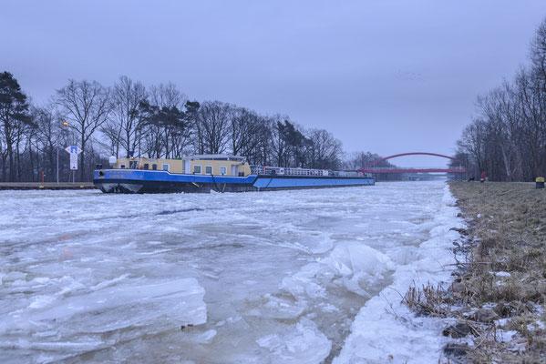Rheine Altenrheine Eisgang auf dem DEK
