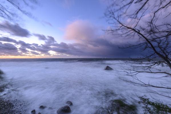 Sturm über der Tromper Wieke, Herbst 2017