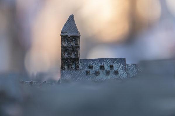 Die Stadtkirche als Modell.