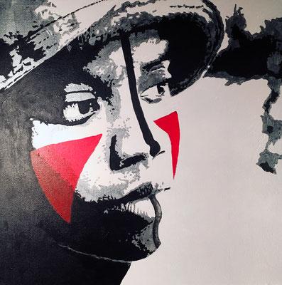 Portrait MC Lyte Acrylique sur toile 50x50 cm © Julia Ratsimandresy