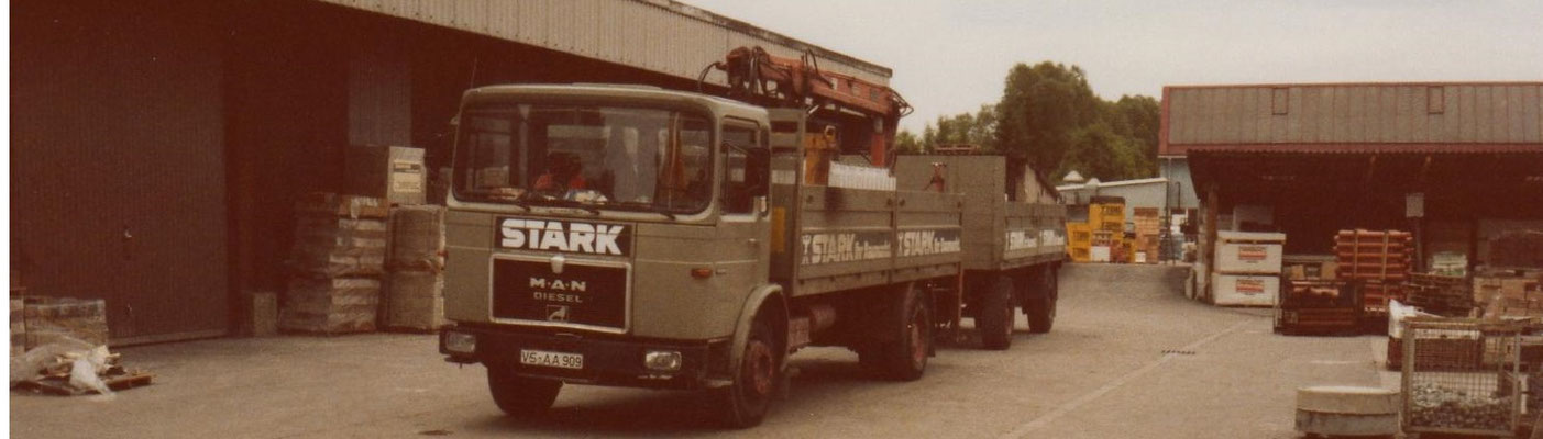 einer unserer STARK-LKWs in den 80er Jahren