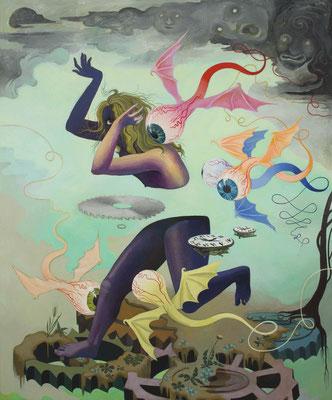 Hortensia Mi Kachin Social Anxiety 2019 Oil on canvas 190 x 158 cm (c) The Artist Courtesy Galerie Judin, Berlin