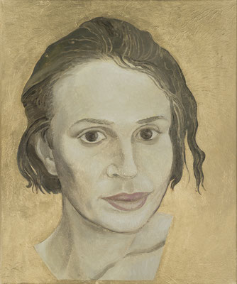 Hortensia Mi Kachin Self 2020 Oil on canvas 60.5 × 50.5 cm (c) The Artist Courtesy Galerie Judin, Berlin