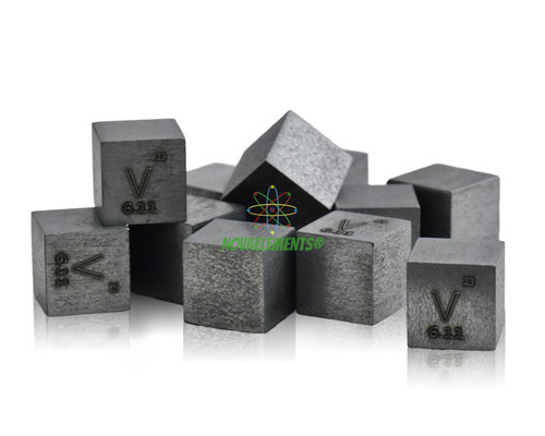 vanadio cubi, vanadio metallo, vanadio metallico, vanadio cubo, vanadio cubo densità, nova elements vanadio