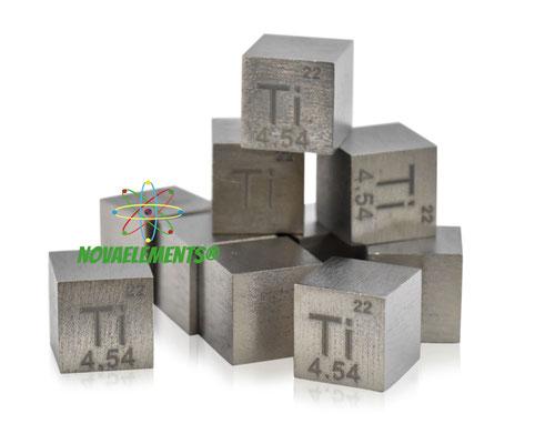 titanio cubo, titanio metallo, titanio metallico, titanio cubi, titanio cubo densità, nova elements titanio, titanio elemento da collezione