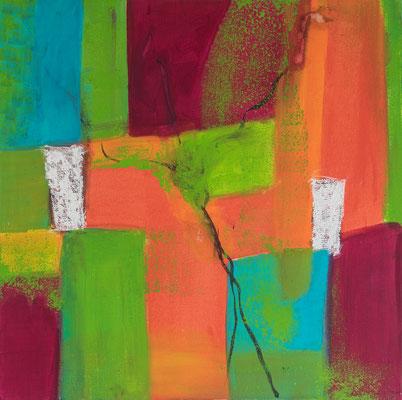 fantasiegefärbt eins  60 x 60 -- 2011