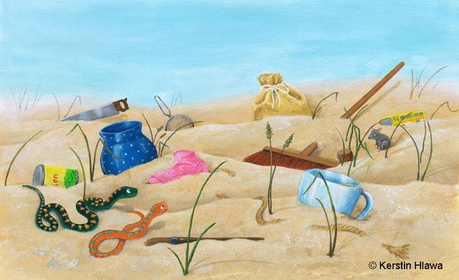 """Bild aus """"Familie Sisam"""", Schubi- Verlag, Acryl, 2012"""