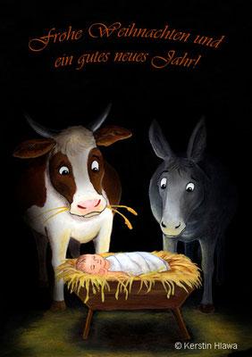 Ochs und Esel, Acryl, 2010