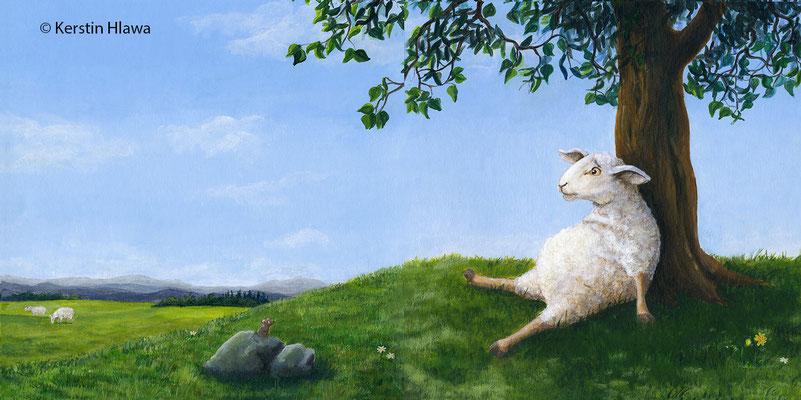 """Bild aus """"Sei (k)ein Schaf"""", Eigenverlag, Acryl, 2009/2011"""