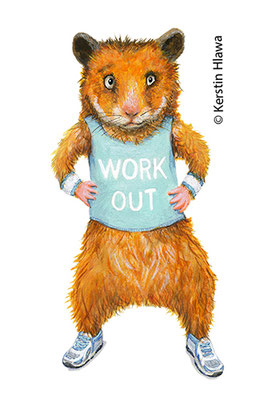 Workout-Hamster, Acryl, Coppenrath, 2016
