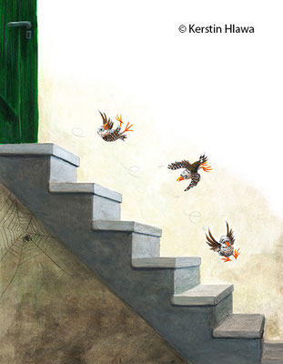 "Bild aus ""Kuckuck Kalli"", Schubi Verlag, Acryl, 2013"