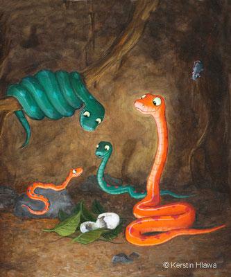 """Bild aus """"Familie Sisam"""", Schubi Verlag, Acryl, 2012"""