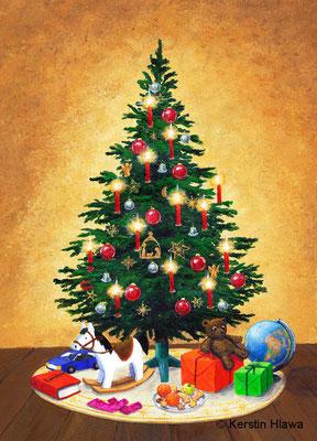 Weihnachtsbaum, Acryl, 2011