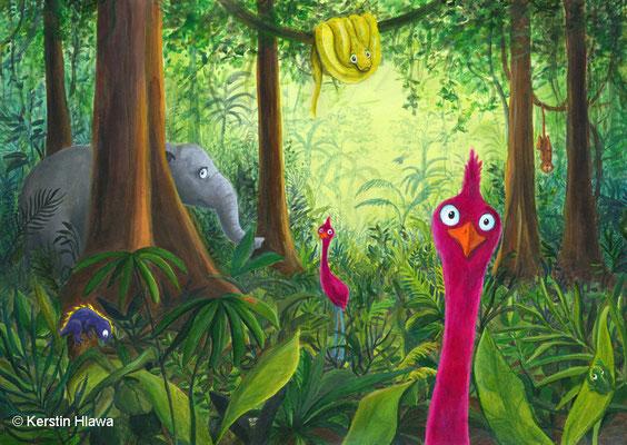 Dschungel, Acryl, 2010