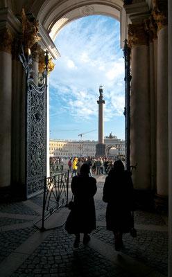 St. Petersburg, Ausgang der Eremitage