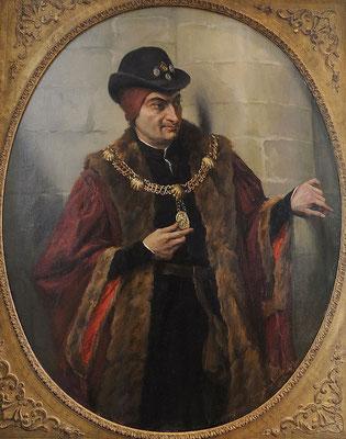 Ludwig XI. mit dem Orden des Heiligen Michael; im Auftrag des Museums der Ehrenlegion angefertigtes Gemälde von Georges Boisselier, 1925 (Quelle: Wikipedia)