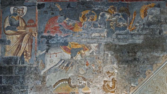 St. Georg als Drachentöter, Fresko im Dom zu Genua
