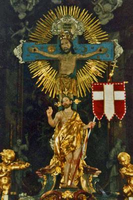 Der auferstandene Christus mit der Siegesfahne, Kloster 17. Jahrhundert