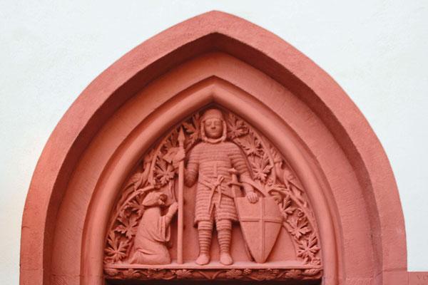 Tympanon der ehemaligen Georgenkapelle, Mainz, 13. Jahrhundert