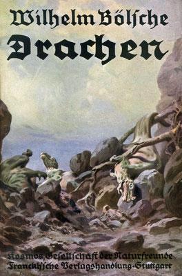 """Umschlag des Buches von Wilhelm Bölsche """"Drachen"""" (1929)"""