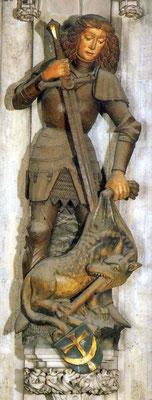 Plastik des Heiligen Georgs aus dem Dom in Wien (Mitte 15. Jahrhundert)