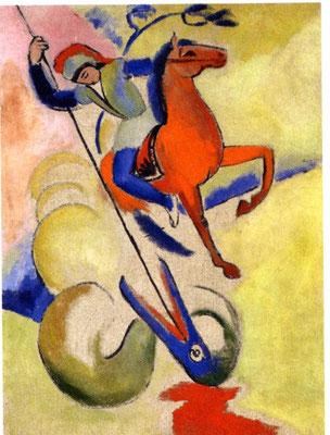 August Macke: Sankt Georg (1912)
