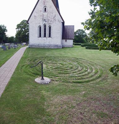 Trojaburg bei Fröjel, Gotland, Schweden