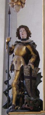 Plastik des Heiligen Georg aus der Georgskirche in Nördlingen