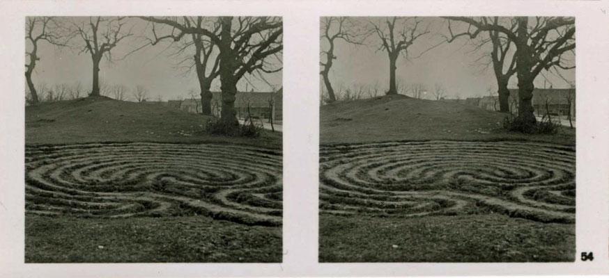Die Trojaburg von Steigra, Zustand in den 1930er Jahren, zeitgenössische Aufnahme