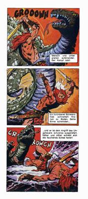 """Szenen aus der Comicserie """"Kronan"""" (Anfang der 1970er Jahre)"""