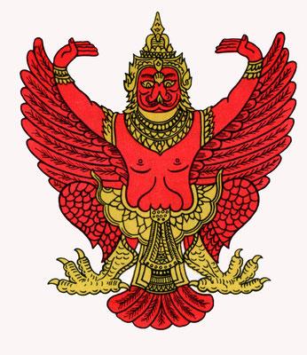 Garuda als Staatswappen Thailands
