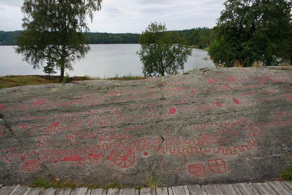 """Bronzezeitliche Felsbilder an der """"Prozessionsstraße"""" bei Högsbyn (Bohuslän, Schweden)"""