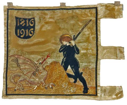 Rückseite der Fahne des 2. Regiments der Tiroler Kaiserjäger (1916)