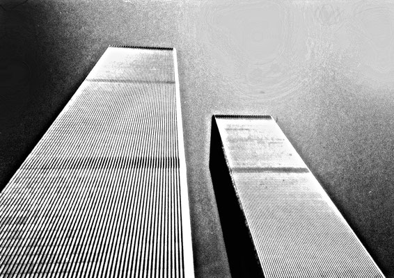 Twin Towers - Photograph - Lightfast Pigment Inks on Acid Free Paper