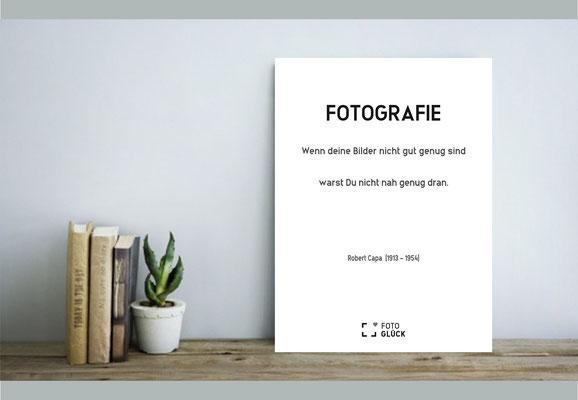 Foto Glück Fotospruch Poster