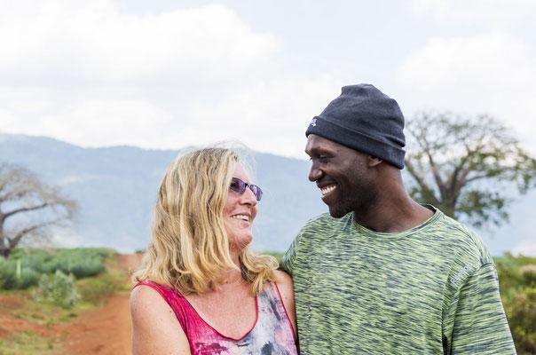 Meine liebste Freundin Iris mit Ihrem Lebenspartner Musa - sie haben sich seit März nicht mehr gesehen