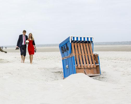 Inselhochzeit Langeoog ... Hochzeitsfotografie mit viel Herz