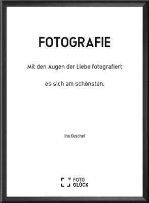 Foto Glück Fotospruch Poster gerahmt