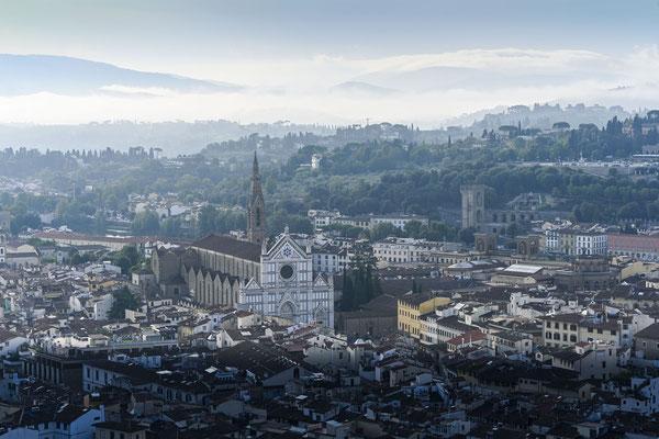 Blick von der Domkuppel über Florenz