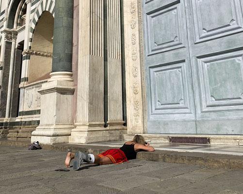 Florenz mit doppelten Fussbruch