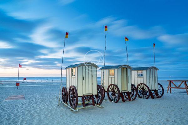 Badekarren auf der Insel Norderney | Nordsee