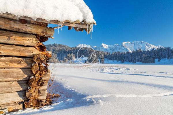 #15 Winter vor Karwendelgebirge